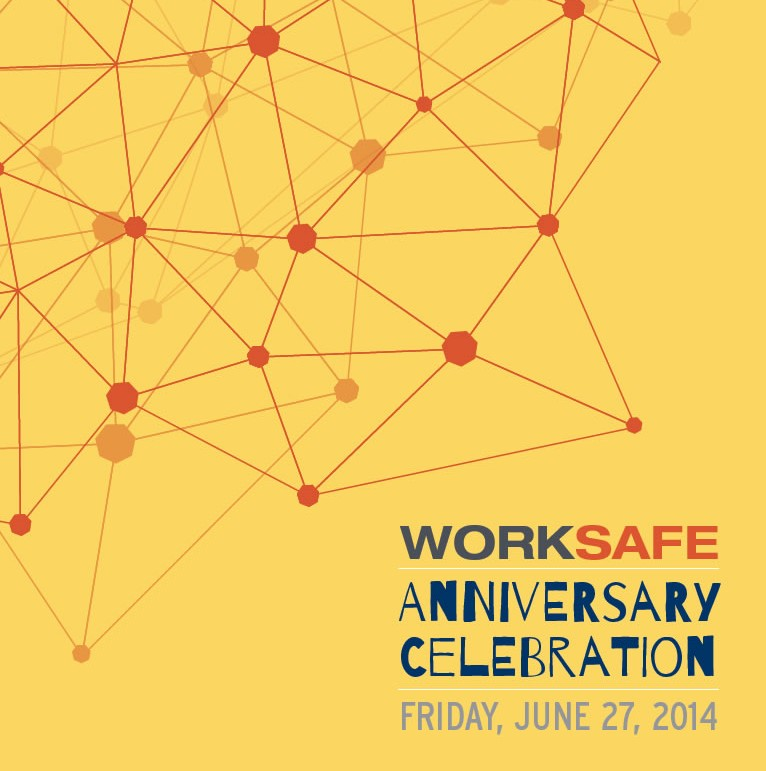 WorkSafe Anniversary 2014 Celebration Invite